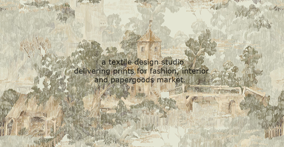 a textile design studio delivering prints for fashion, interior and papergoods market.